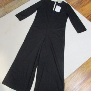 Zara Circular Trafaluc Black Jumpsuit NWT Med Lrg